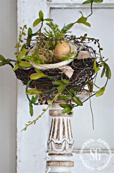 chippy blooming nest inspired spring mantel stonegable