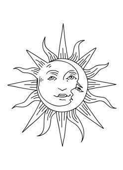 sol  luna ink sun tattoos tattoo drawings tattoos