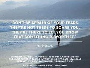 inspirational quotes  overcoming fear quotesgram