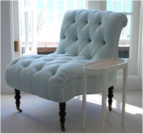 tufted blue accent chair master bedroom sillones