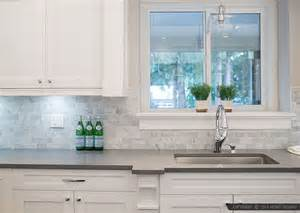 Tumbled Marble Backsplash Ideas