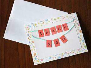 Thank You Card: Outstanding Design DIY Thank You Cards ...