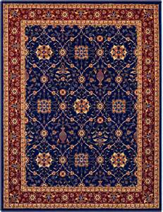 Surya Carpets by 96 01 Anatolia All Over Vase Rug Navy Red Area Rugs