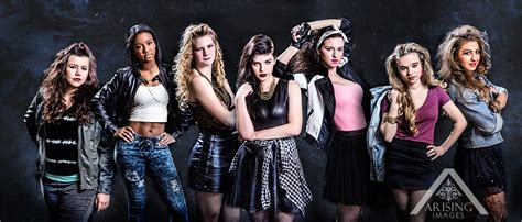 punk rock themed shoot   senior models