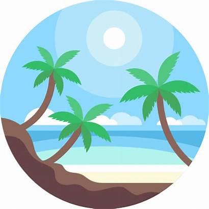 Playa Icono Icons Iconos Flaticon Freepik Naturaleza