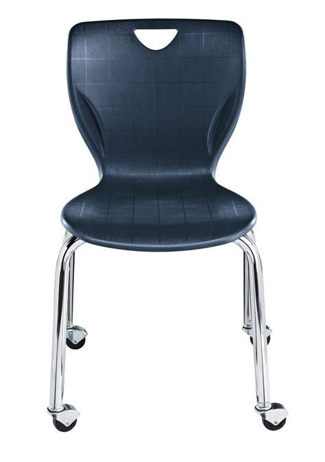 classroom select contemporary chair with casters