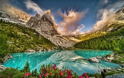 Mountains Italy Dolomites Alps Lakes Hdr Europe