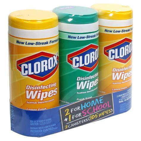Clorox Disinfecting Wipes, 2 Lemon Fresh, 1 Fresh Scent, 3
