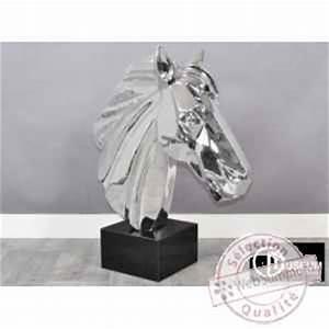 Objet De Décoration Design : objet d coration illusion t te cheval design edelweiss de figurine animaux d 39 art a ~ Teatrodelosmanantiales.com Idées de Décoration