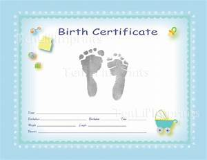 tenlilimprints birth certificate kit blue black With boy birth certificate template