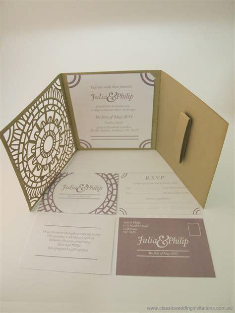 classic wedding invitations trifold invitation