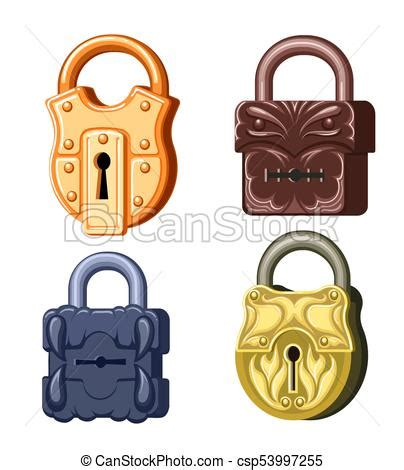 game metal locks  antique padlock set