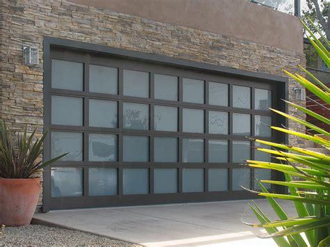 garage door goes all the way then up glass garage doors