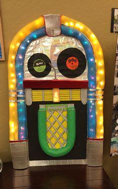 cardboard jukebox   sock hop ideas