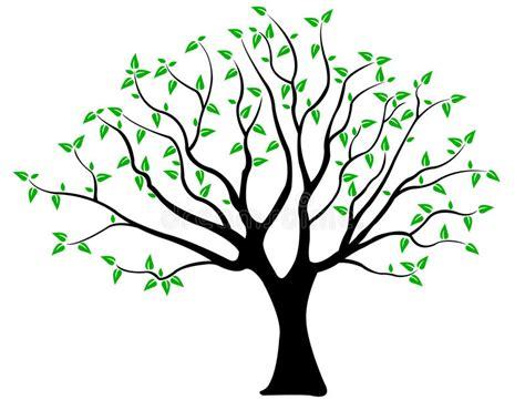 baum mit herzblättern baum mit bl 228 ttern vektor abbildung illustration umgebung 29400678
