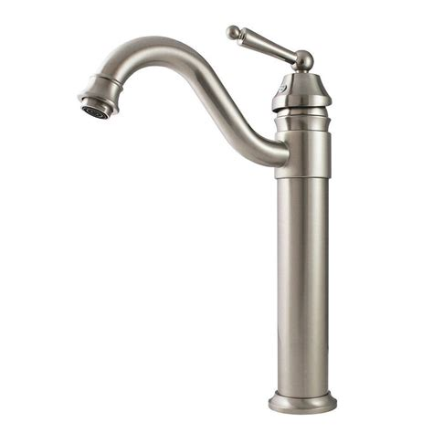 brushed nickel bathroom sink faucet shop kokols usa brushed nickel 1 handle vessel bathroom