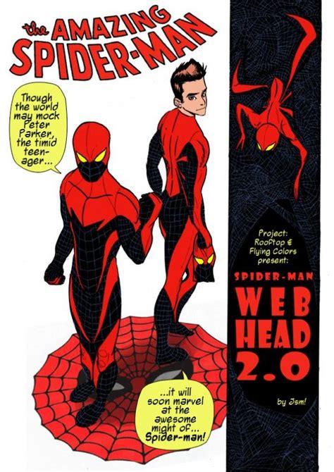jsm spiderman  redesigns     costume bleeds