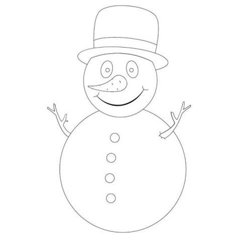 Sneeuwman Kleurplaat Simpel by Sneeuwpop Knutselen Juf Maike Leerkracht Website En