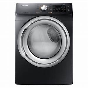 Samsung 7 5 Cu  Ft  Electric Dryer With Steam In Black Stainless-dve45n5300v