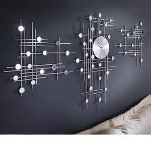 designer uhren wanduhren 3tlg moderne design wanduhr quot space quot uhr wohnzimmerwanduhr b36 x t4 x h61cm neu ebay