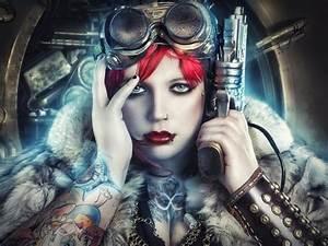 Sci, Fi, Warrior, Women, Futuristic, Art, Artwork, Girl, Wallpapers, Hd, Desktop, And, Mobile