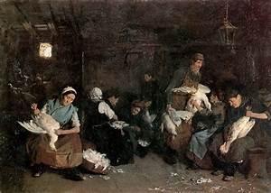 Women plucking geese, 1871 - Max Liebermann - WikiArt.org