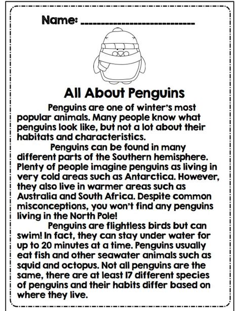 Third Grade Winter Math & Ela Packet *common Core Aligned  A Well, All About Penguins And 3rd
