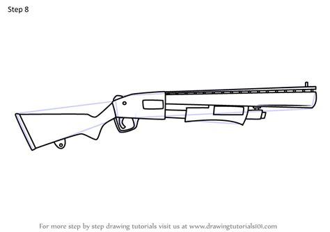 learn   draw pump shotgun  fortnite fortnite step  step drawing tutorials