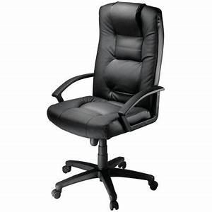 Fauteuil De Bureau Cuir : fauteuil en cuir laguna achat vente chaise de bureau noir cdiscount ~ Teatrodelosmanantiales.com Idées de Décoration