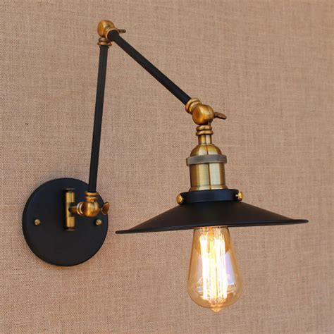 industrial looking light fixtures iron brass retro loft loft style industrial wall light ヾ