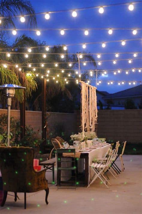 creative outdoor lighting using lights