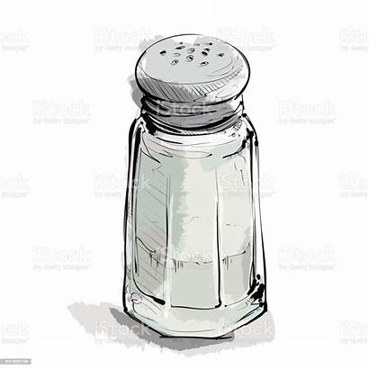 Salt Shaker Draw Vector Illustration Hand Cartoon
