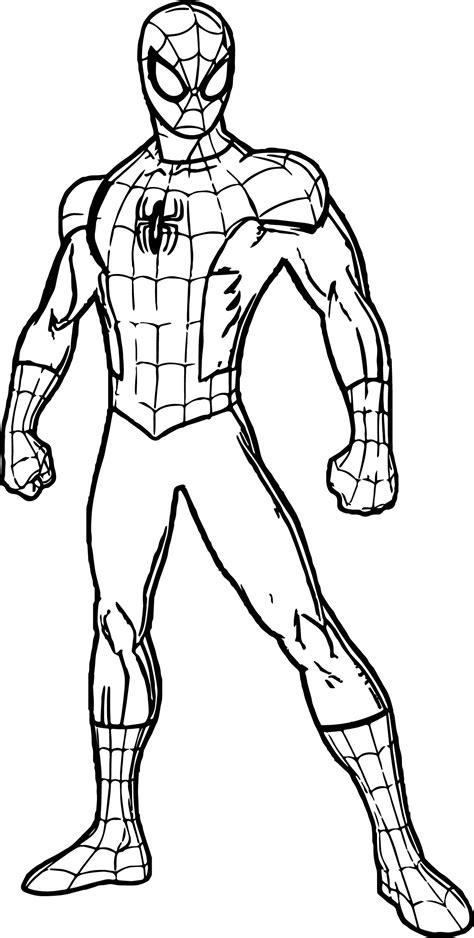 Spidey Spider Man Coloring Page Wecoloringpagecom