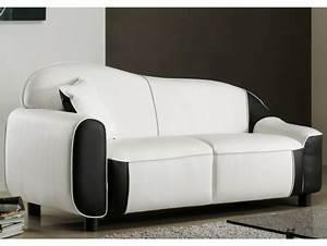 canape 3 places simili cuir marina bicolore noir et With produit pour nettoyer canape simili cuir blanc