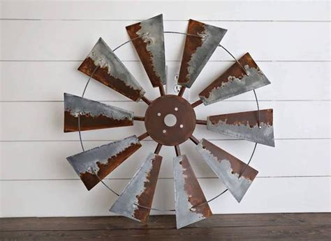 30 Wall Decor Ideas For Your Home: 30 Inch Windmill Wall Decor Metal Decor Rustic Wall Art