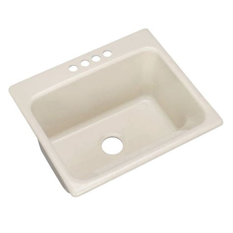 Thermocast Sink Home Depot by Thermocast Kensington Drop In Acrylic 25 In 4 Single