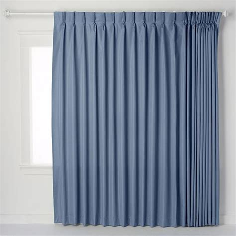 crosby insulated pinch pleated patio door drape single