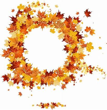 Fall Frame Frames Transparent Autumn Round Clipart