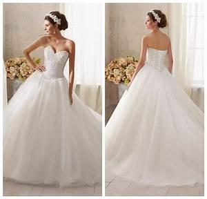 Elegant princess ball gown sweetheart neckline crystal for Corset top wedding dress