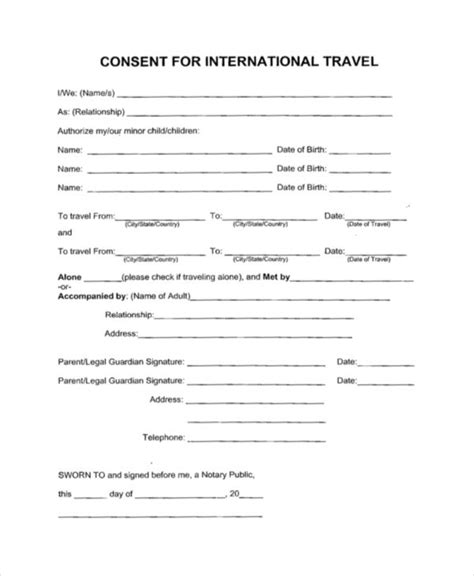 travel affidavit  minors viewsummerco