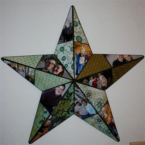 photo collage metal star photographs scrapbook paper