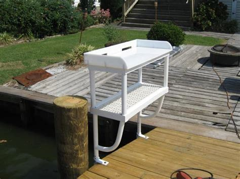 fish cleaning station with sink for dock dock accessories ladders tiki huts fish cleaning and