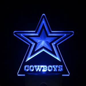 "Dallas Cowboys Star 4"" by 4"" LED Night Sensing Light ..."