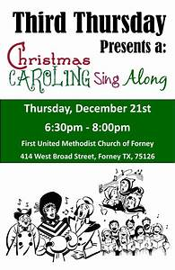 Third Thursday - Christmas Carol Sing Along - First United ...