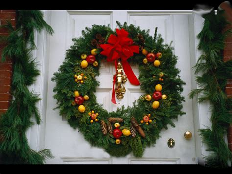 elegant and decorated christmas wreaths with lights the