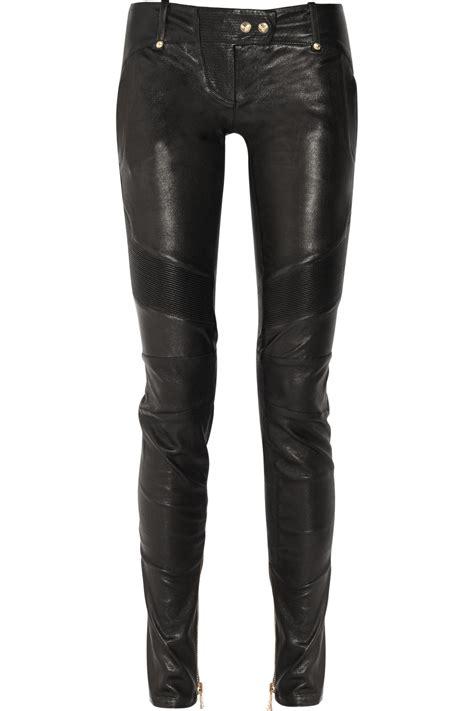 balmain skinny leather pants  black lyst
