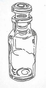 Spice Bottles Coloring Pages Storage sketch template