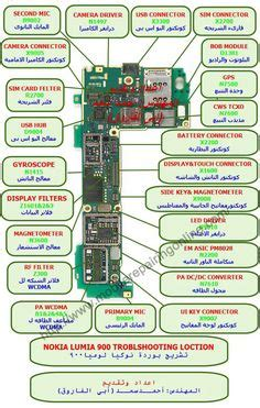 mobile phone pcb diagram with parts electronics technician in 2019 mobile phone repair cell