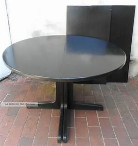 1 antiker thonet tisch rund von 1978 esstisch schwarz holz for Thonet tisch rund ausziehbar