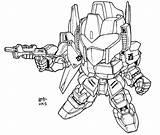 Sd Lineart Gundam Coloring Shiki Hyaku Deviantart Larger Killar Credit V2 Sketch sketch template